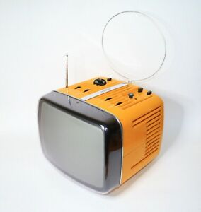"""FROM 60s ICONIC BRIONVEGA DONEY 12"""" VINTAGE TELEVISION WORKS SPACE AGE"""