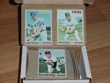 1970 TOPPS BASEBALL LOT - YOU PICK (5) COMPLETE YOUR SET - EX+