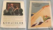 #T10. ADVERTISEMENT - 1930, WILLS GOLD FLAKE CIGARETTES / KODAK CAMERAS