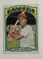 1972 Topps Lenny Randle # 737 Baseball Card Texas Rangers