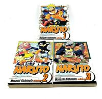 Naruto Manga Lot of 3- Volumes 1-3 (ENGLISH) Shonen Jump + Movie Ani-manga