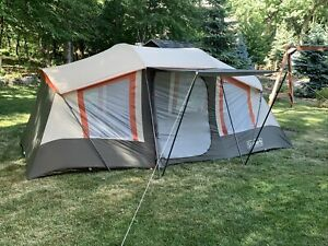 Coleman Weathermaster 10-Person Dome Tent Beige 17' x '9' VGUC NR