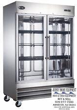 Saba S-47Rg Commercial Refrigerator, Beverage Cooler & Display Case 2 Glass Door