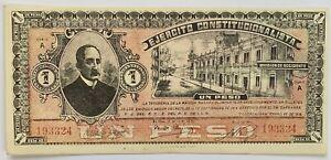 MEXICO Banknote 1915 Ejercito Constitucionalista  UN Peso Serie A  P-S716 aUN
