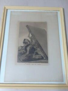 """FRANCISCO GOYA  ETCHING """"Y AUN NO SE VAN"""" PLATE 59 FROM LOS CAPRICHOS 1881-1886"""
