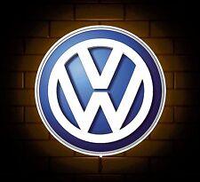 VW badge sign LED Luce Scatola Man Grotta Garage Officina Stanza Dei Giochi Regalo Per Ragazzi GTI