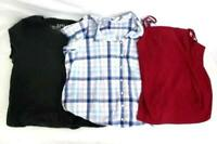 Lot of 3 Women's Tops Size 2X Button Up Tank T-Shirt Three Pieces