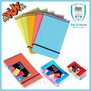 Note Pad A5 A6 A7 Spiral Multi-coloured Neon Ruled Notebook - Chiltern Wove