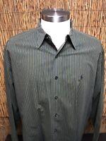 Ralph Lauren Men's Button-Down Long Sleeve Green Polo Dress Shirt Size XXL