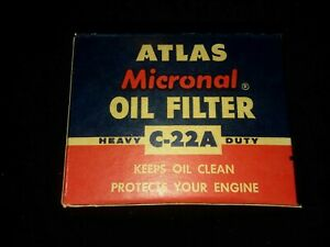 TU-011 Atlas Micronal Oil Filter C-22A Dodge Dart Lancer Plymouth Valiant...
