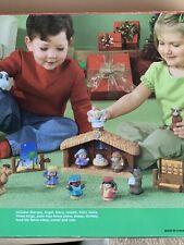 Fisher Price Children's Little People Christmas Nativity Manger Scene Set No box