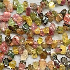 Tourmaline Small Top Drilled Nugget Semi Precious Stone Q50 Beads per Pkg