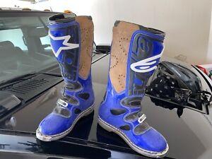 Alpinestars Boots Size 5 Womens Mens Motorcycle Dierbike Blue Motocross