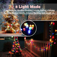200 LED Solar String Fairy Lights Waterproof Outdoor Party Decoration Garden USA