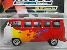 Johnny Lightning 1964 VW SAMBA BUS Mace RED w/FLAMES '64 w/RR