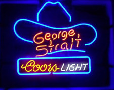 "New Coors Light George Strait Beer Neon Light Sign 20""x16"""