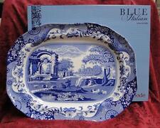 """Spode Italian, Blue Scene, Oval Serving Platter, 14"""", NEW w/ Orig Box"""