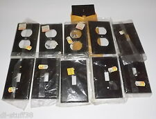 Vintage Brown Bakelite Switch Plate Outlet Covers 11 in lot New in Package