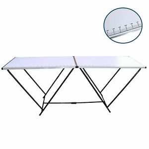 2 Metre Folding Paste Decorating Wallpapering Pasting Table with Ruler Markings