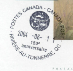 Riviere Au Tonnerre Quebec Pictorial Postmark Cover Canada
