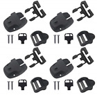 Poweka 4 Set Spa Hot Tub Cover Latches Clip Lock Kit with Key,Replacement Broken