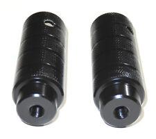 """BMX Axle-Pegs, Stahl, für 3/8"""" x 26 TPI Achsenfür, 38 x 110 mm, schwarz, 1 Paar"""