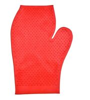 Rubber Grooming Glove For Horses Red Eliminate Loose Hair Skin