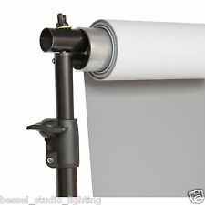 2m x 5m Double Sided Grey and White Photographic Background Vinyl with Stand