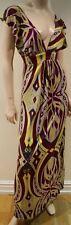 T BAGS LOS ANGELES Multi Colour Bold Geometric Print Cap Sleeve Maxi Dress S