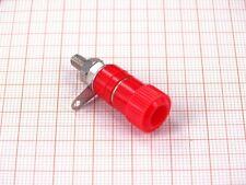 10er Pack Polklemmen 4mm Rot - Buchse, Schraubklemme und Lötfahne ( I00B )