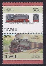 TUVALU LOCO 100 CLASS 99 -77 LOCOMOTIVE EAST GERMANY STAMPS MNH