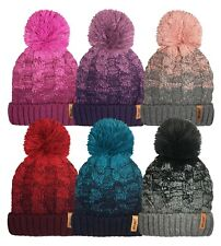 Mens & Ladies Stylish Coloured Designs Rockjock Ski Bobble Hats Thermal Winter
