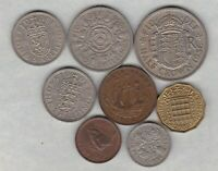 1956 ELIZABETH II SET OF 8 COINS IN NEAR VERY FINE OR BETTER CONDITION