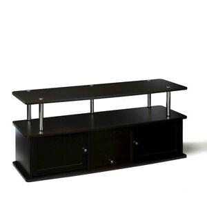 Convenience Concepts Designs2Go TV Stand with 3 Cabinets, Espresso - 151202ES