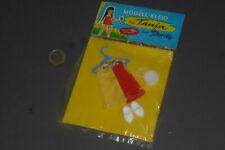 Altes Plasty Kleid mit Tasche & Schuhen für Tanja & Ria 14cm Puppen in OVP