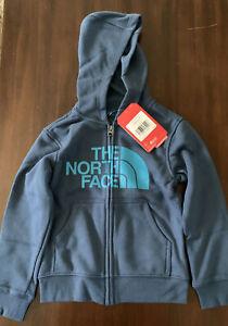 The North Face Logo wear Full Zip Hoodie Boys Blue/Shady Size XXS 5