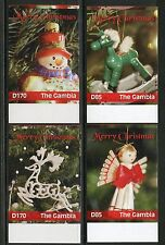 GAMBIA 2016 CHRISTMAS ORNAMENTS IMPERFORATE  SET OF FOUR MINT  NH