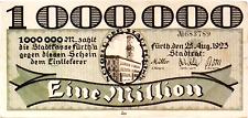 1923 Germany FURTH 1.000.000 MARK banknote