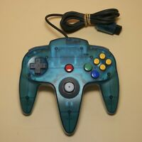 Nintendo 64 Clear Ice Blue Transparent Authentic Controller Rare NUS-005