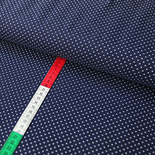 Jerseystoff 2mm Punkte Dots Tupfen Weiß auf Marine Gepunkteter Stoff Jerseys