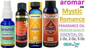 Aromar Essential Fragrance Oils 65 ml / 2 oz Bottle Premium Aromatherapy Oil USA