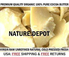 100% Raw Cocoa / Cacao Butter PURE PRIME PRESSED UNREFINED Natural 8oz Virgin