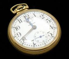 M63 Waltham VANGUARD 16s 23j Antique Gold Filled Pocket Watch w/ WIND INDICATOR