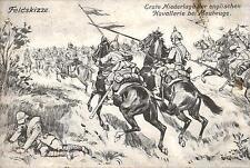 18801/ AK Feldskizze, Englische Niederlage bei Maubeuge, 1915