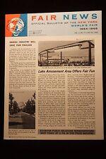 "Worlds Fair New York 1964 Bulletin ""Pope Paul VI Kennedy Vol 2 No. 7 July 1963"