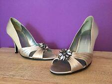 Women's Dorothy Perkins Capulet DP Shoes. UK Size 5. Grey/Silver, Slim Heel.