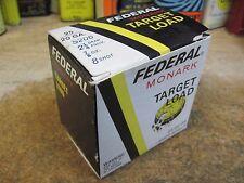 FEDERAL SHOTGUN SHELL BOX MONARK TARGET LOAD EMPTY PAPER shot 20 gauge  ORIGINAL