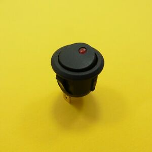 DC 16A/12V 2 Position Red ON/OFF SPST Rocker Switch 3 Pin Round