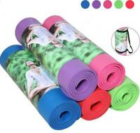"Thick Yoga Mat Exercise Fitness Pilates 72"" x 24""  Meditation Soft Non-Slip Pad"
