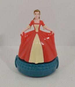 """RARE 1998 Enchanted Christmas Belle 3"""" McDonald's EUROPE Figure Beauty & Beast"""
